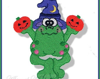 Halloween Frog - 3 Sizes, Machine Embroidery