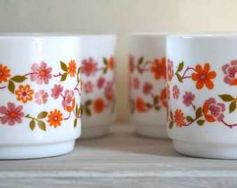 Vintage French Arcopal Scania Cups