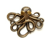 Steampunk Jewelry Steampunk Hat Pin Octopus Pin Kraken Cthulhu Jewelry Steampunk Goggles Pirate Steampunk Jewelry By Victorian Curiosities