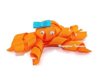 Octopus Ribbon Sculpture Hair Clip