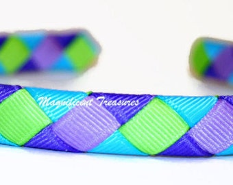 Cool Colors Woven Headband