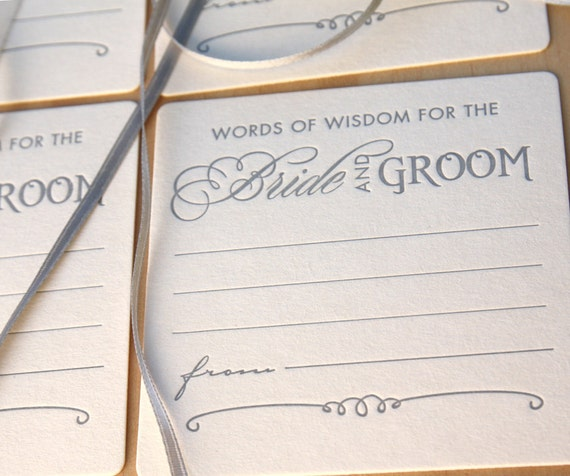 Funny words of advice for bride and groom