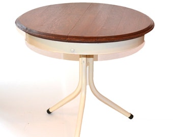 Wine Barrel Head Table