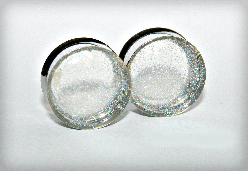Ear plugs stainless steel gauges double flared single