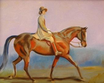 Portrait Of Mrs. Magaretta Park Frew - Original Oil Painting