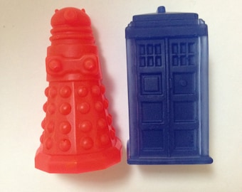 Dr. Who Strawberry & Blueberry Soap Set