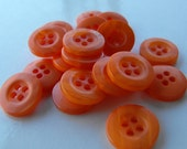 "Dollar Sale 20 Orange Marble Rim Round Buttons Size 9/16""."
