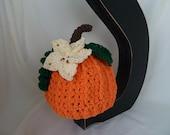 Crochet Pumpkin Hat-Beanie-Infant Pumpkin Photography Prop-Adult/Teen Costume-Kids Pumpkin Beanie-Toddler Pumpkin Outfit