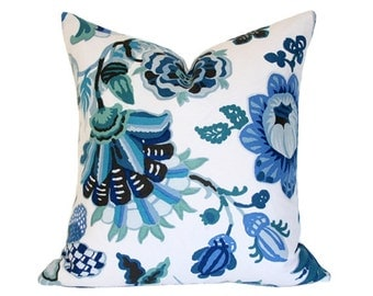 Cambourne Blue Designer Pillow Cover - (Single-Sided) 16x16