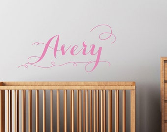 Custom Name Decal - Personalized Decal Sticker Name - Girls name wall decal removable