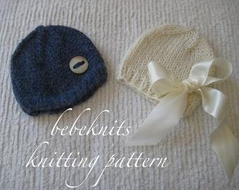Bebeknits Baby Hat Knitting Pattern in 4 Sizes
