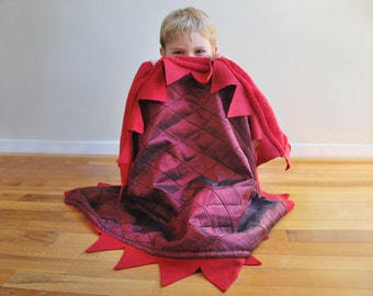 Red Dragon Cuddle Blanket - for your Baby Dragon or snuggle monster
