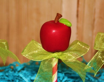Mom's Killer Cakes & Cookies Apple Apples Back To School Cake Pops Perfect Teacher and Classroom Treats