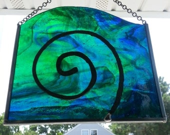Stained Glass Nautilus Panel