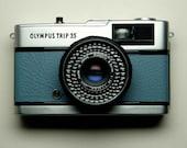 Olympus Trip 35 - refurbished 1970s film camera, blue