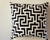 "20"" Greek Key print-Pillow Cover"