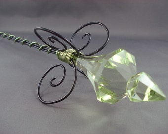 Green Evil Queen Scepter -Evil Queen Wand Evil Queen Costume Evil Queen Cosplay Once Upon a Time Regina Made to Order