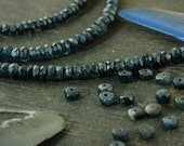 """Blue Jean Sparkle: Natural Blue Sapphire A-Grade Faceted Rondelle Beads / 15 beads 3x1.5mm, 1"""" / Organic Gemstone, Jewelry Making Supplies"""