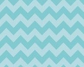 Reserved for M. Burk       Chevron Auqa Tone on Tone Fabric  Medium by Riley Blake