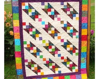 Quilt Pattern - Chain of Jewels - Hard Copy Version - sizes Crib to Queen - King