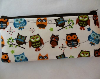 Owls Pencil case-Riley Blake