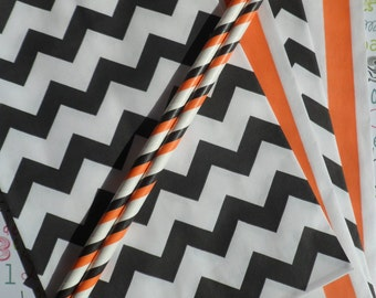 Halloween Candy Bags in Stripe and Chevron, Trick or Treat Party Favor Bags, Wedding Favor Bags, Halloween Party Favor Bags
