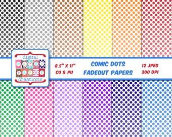 Superhero Comic Dots Digital Paper Pack - Printable Superhero Paper -Comic Dots Digital Scrapbook Paper INSTANT DOWNLOAD