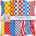 Digital Paper Pack - Primary Colors Quatrefoil, Dots, Stripes, Floral INSTANT DOWNLOAD