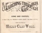 Marching though Georgia Maj. Gen. Sherman 1865  Civil War Sheet Music