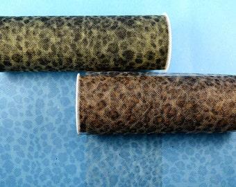 "6""x6 yards (18 FT) Leopard Print Animal Print Soft Tulle Fabric Rolls"