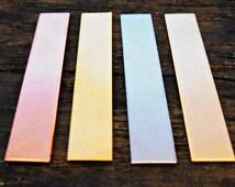 "1/4"" x 1 1/2"" Rectangle Tag, Copper, NuGold, Aluminum, Bronze"