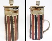 Vintage Briglin Pottery Coffee Pot Retro Coffee Pot