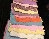 Large Collection of Textured Handmade Paper, Altered Art, Collage, Art Project, Cardmaking
