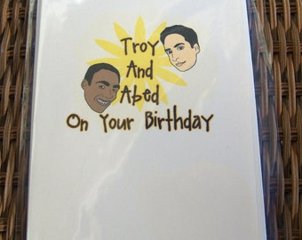 Community Troy & Abed Card