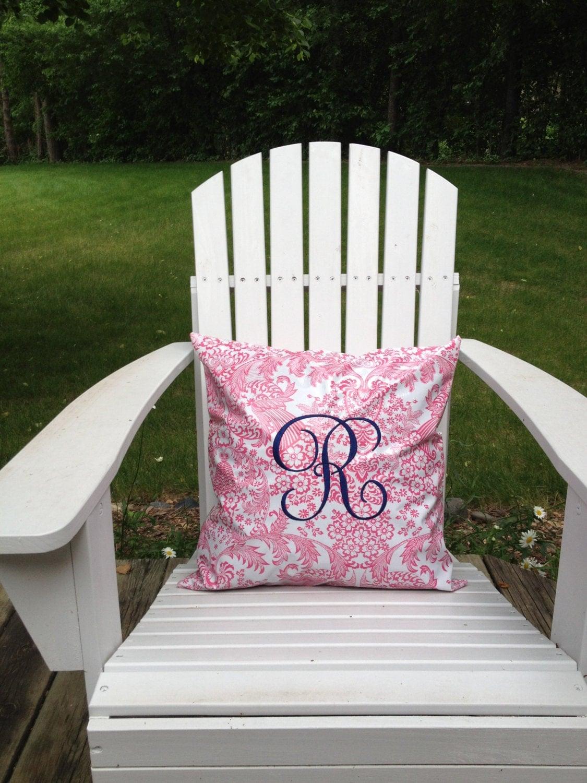 Indoor Outdoor Pillow Waterproof Pillow Cover Monogrammed