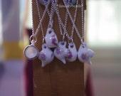 4 pcs miniature teacup and teapot necklace charms-FZ935-cute