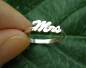 MRS Ring - Just Married Ring - Stackable Stacking Ring - Jewelry Jewellery