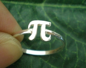 Pi Symbol Ring - Phi Symbol Jewelry - Pi Day Gift Idea for Teacher, Math Students and Graduation Gift