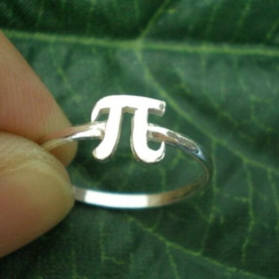 Pi Symbol Ring Phi Symbol Jewelry Pi Day Gift Idea For