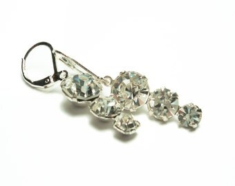DIAMOND ROUND GLASS Jewel Earrings