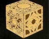 Hand Cut Paper Hellraiser Lament Configuration Puzzle Box 8 X 10