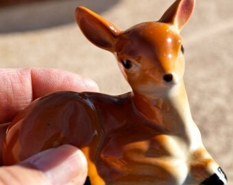 Vintage made in Japan porcelain Fawn or Bambi 1960s or earlier