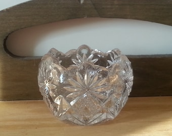 Vintage Clear Glass Mini Candy Bowl