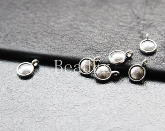 80pcs / Coin Drop / Oxidized Silver Tone / Base Metal / Charm (YA16697//O109)