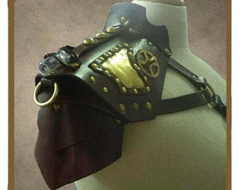 Fancy Brass and leather Pauldron