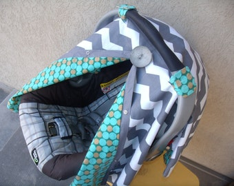 Car seat Canopy Cover Chevron Boy carseat tent carseat canopy carseat cover