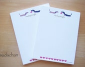 Personalized Notepads - Dachshunds with Hearts (set of 2)