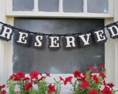 RESERVED  Banner for Weddings and Gatherings