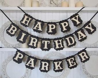 Custom Name HAPPY BIRTHDAY  Banner, Happy Birthday Sign, Birthday Party Decoration, Party Decor