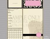 16x20 Pink Damask Child Message Center (JPEG Digital File) - Instant Download - You Print - You Frame